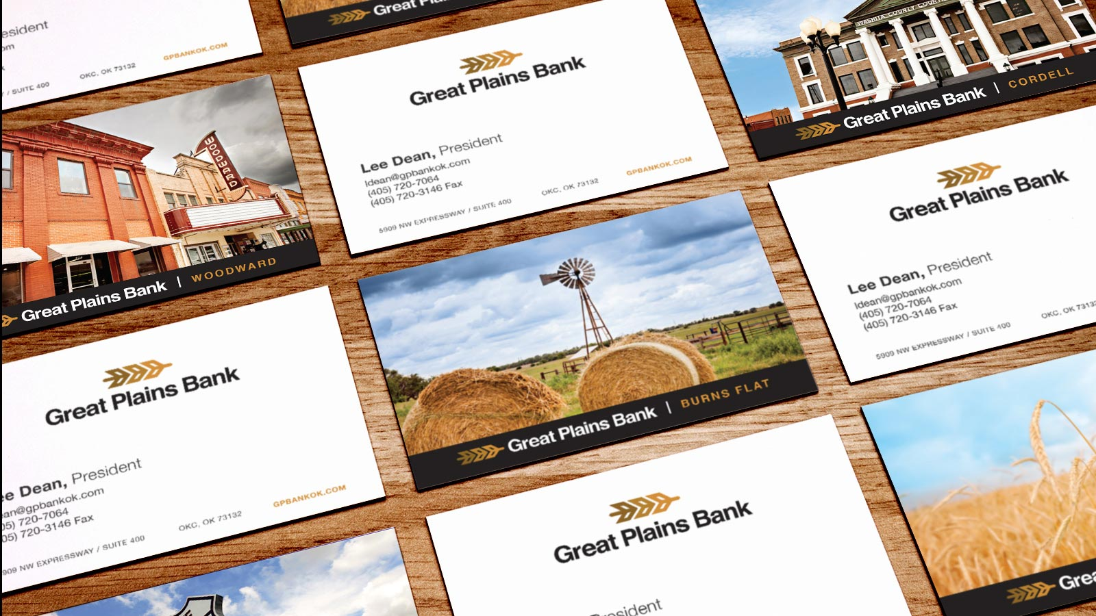 Great Plains Bank - new brand business card print design