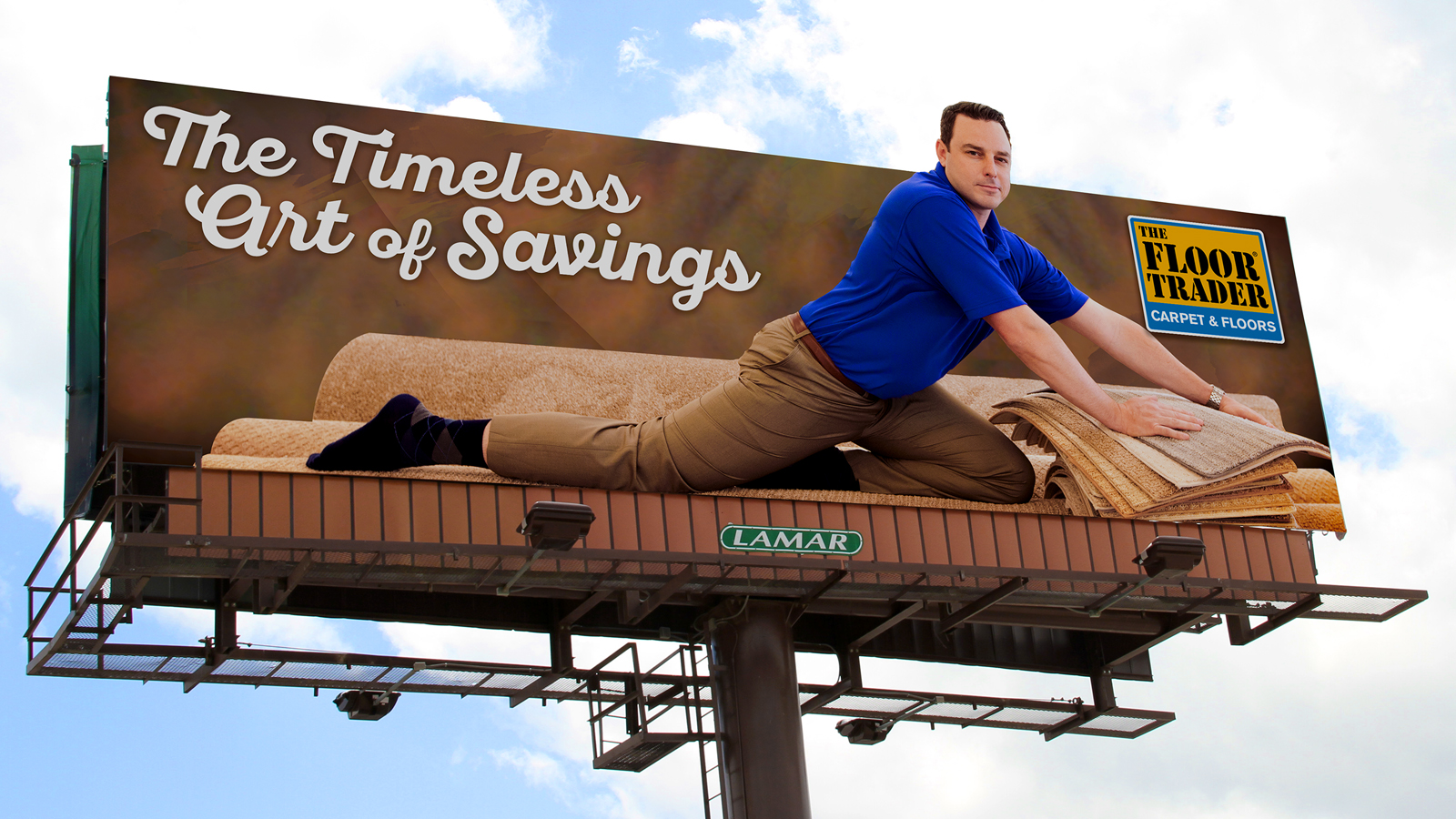 Seinfeld-inspired billboard advertisement for The Floor Trader went viral