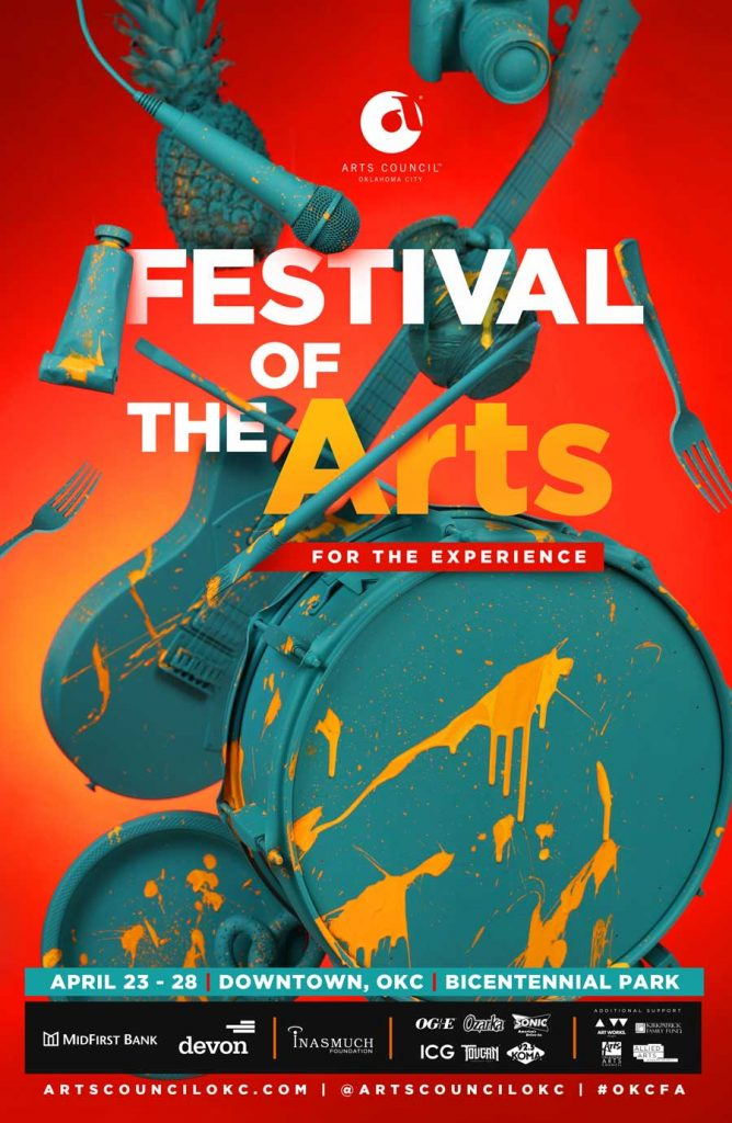 Poster design for Arts Council OKC's Festival of the Arts 2019