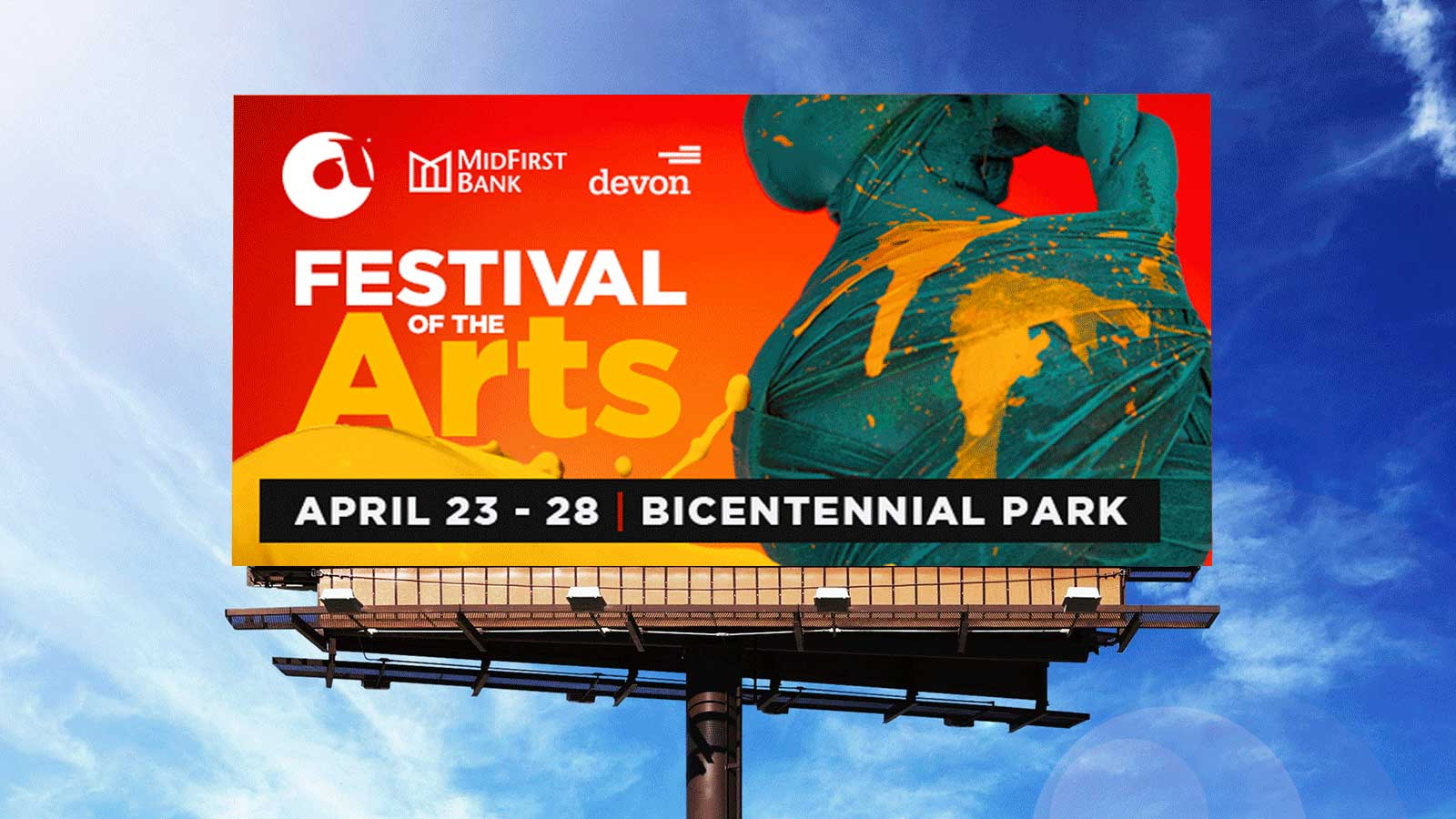 Insight Creative Group's billboard design for Festival of the Arts 2019