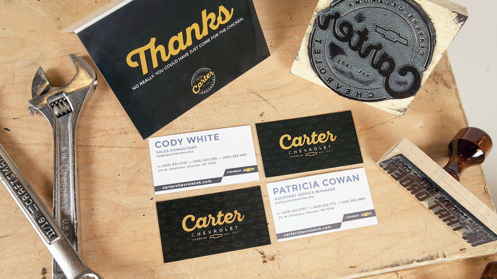 Brand identity for Carter Chevrolet