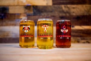 OKC Zoobrew 2019 glasses filled with delicious beers