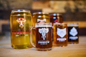 Beer glasses and taster mugs