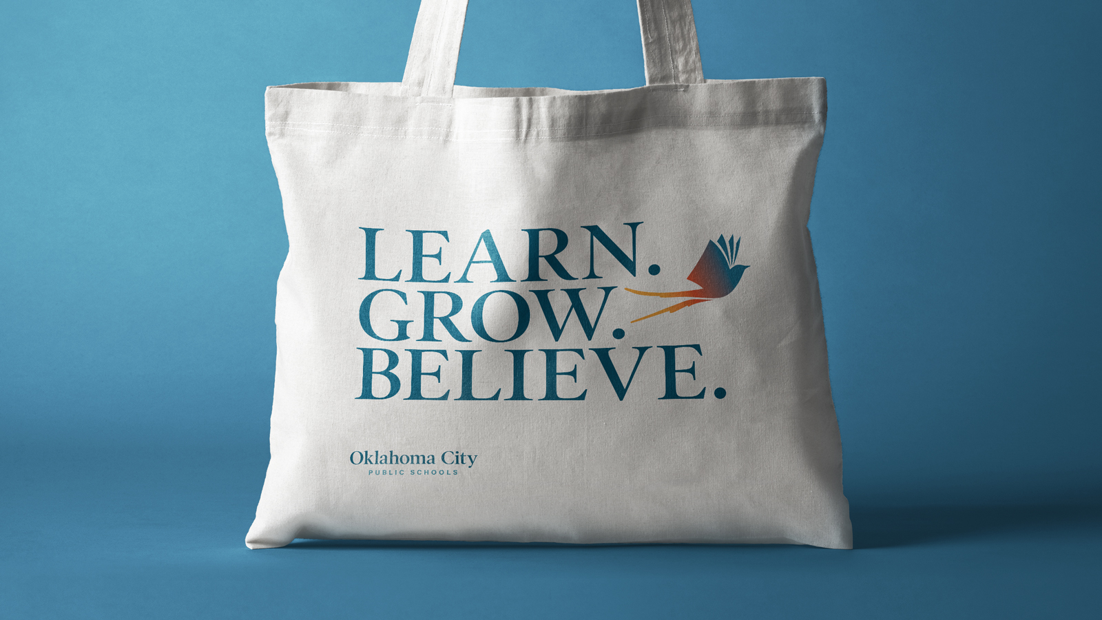 Oklahoma City Public Schools new brand tote bag design