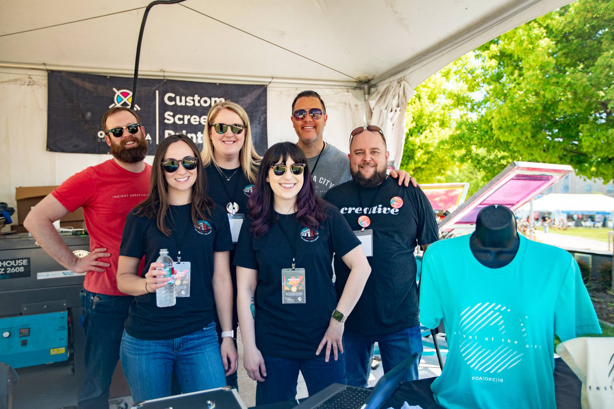 Insight Creative Group team volunteering at the Festival of the Arts in OKC