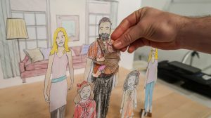 Characters form the Swiggarts video for Angels Foster Family Network