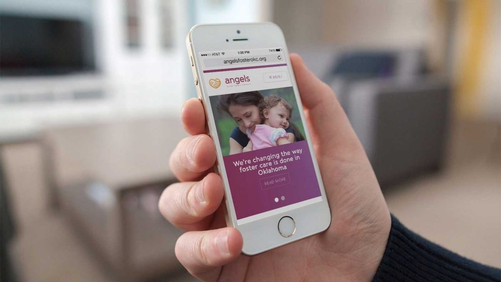 Angels Foster Family Network responsive web design