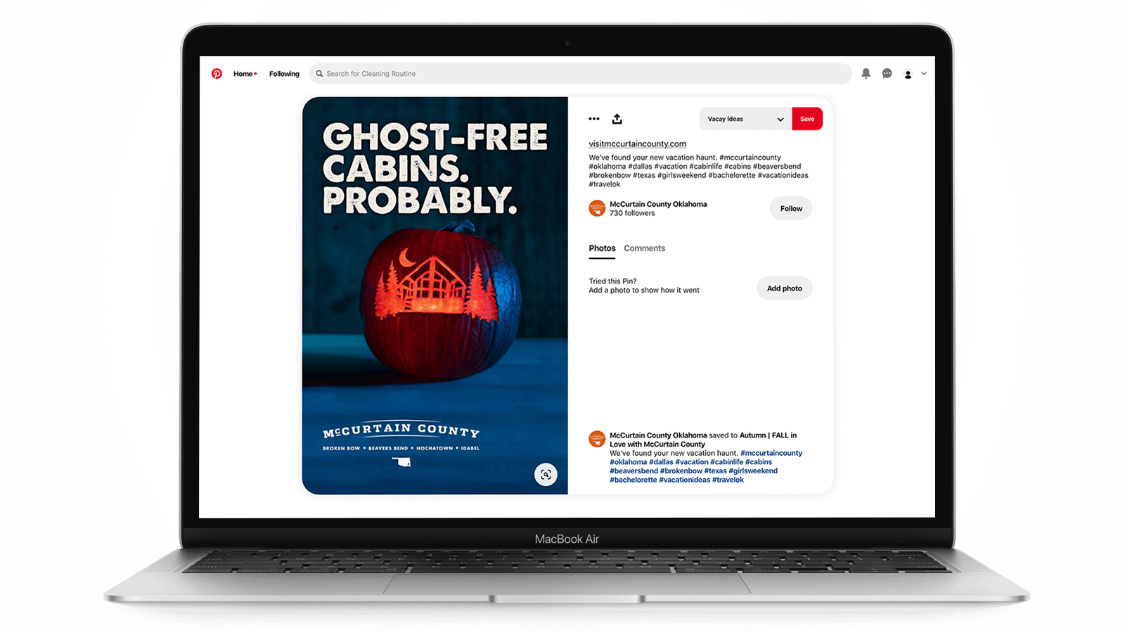 Tourism marketing on Pinterest - Halloween