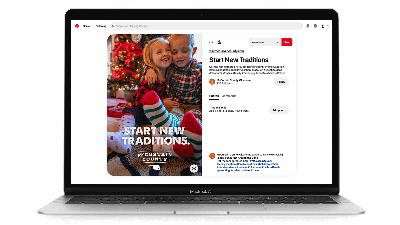 Tourism marketing on Pinterest - Christmas time