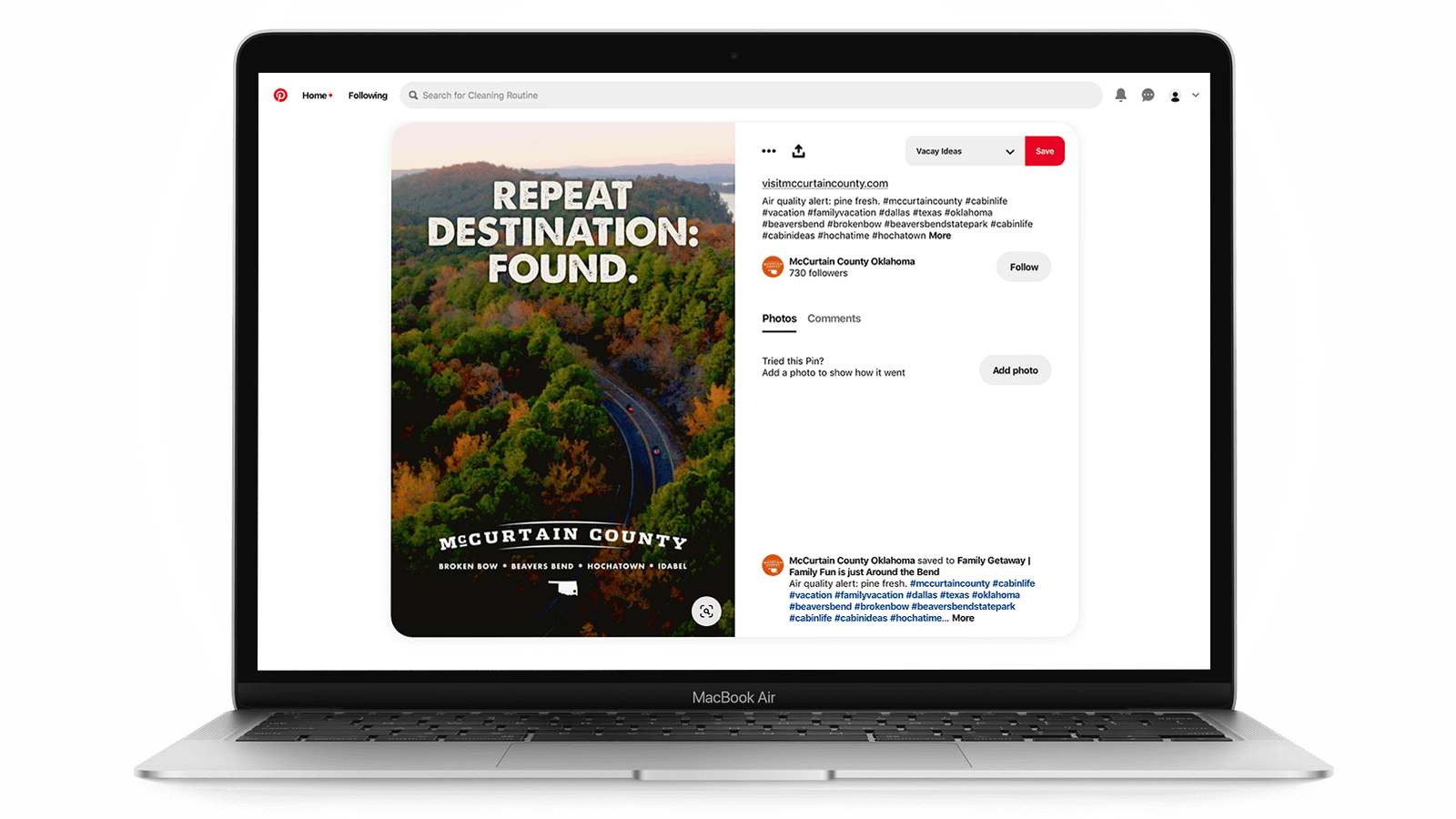Tourism marketing on Pinterest