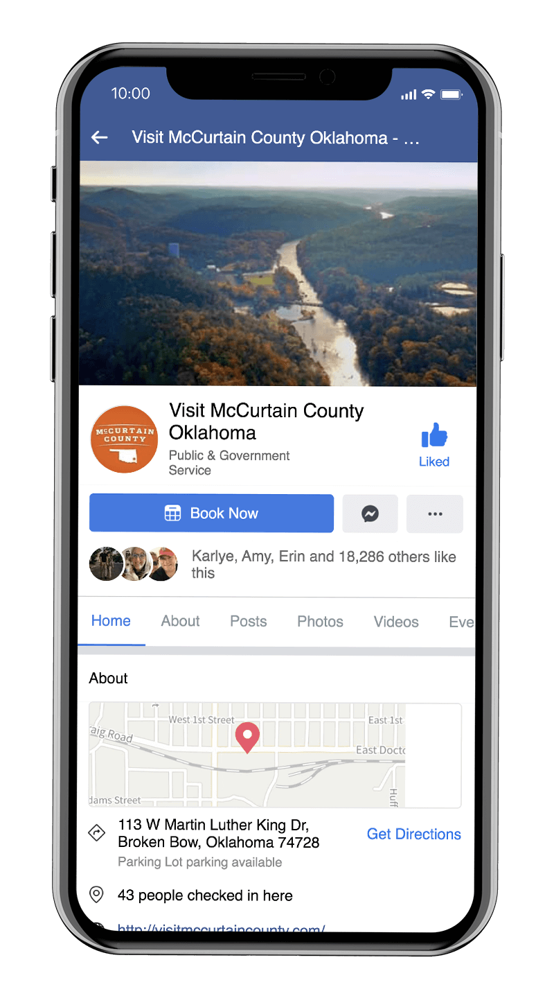 Visit McCurtain County's Facebook page