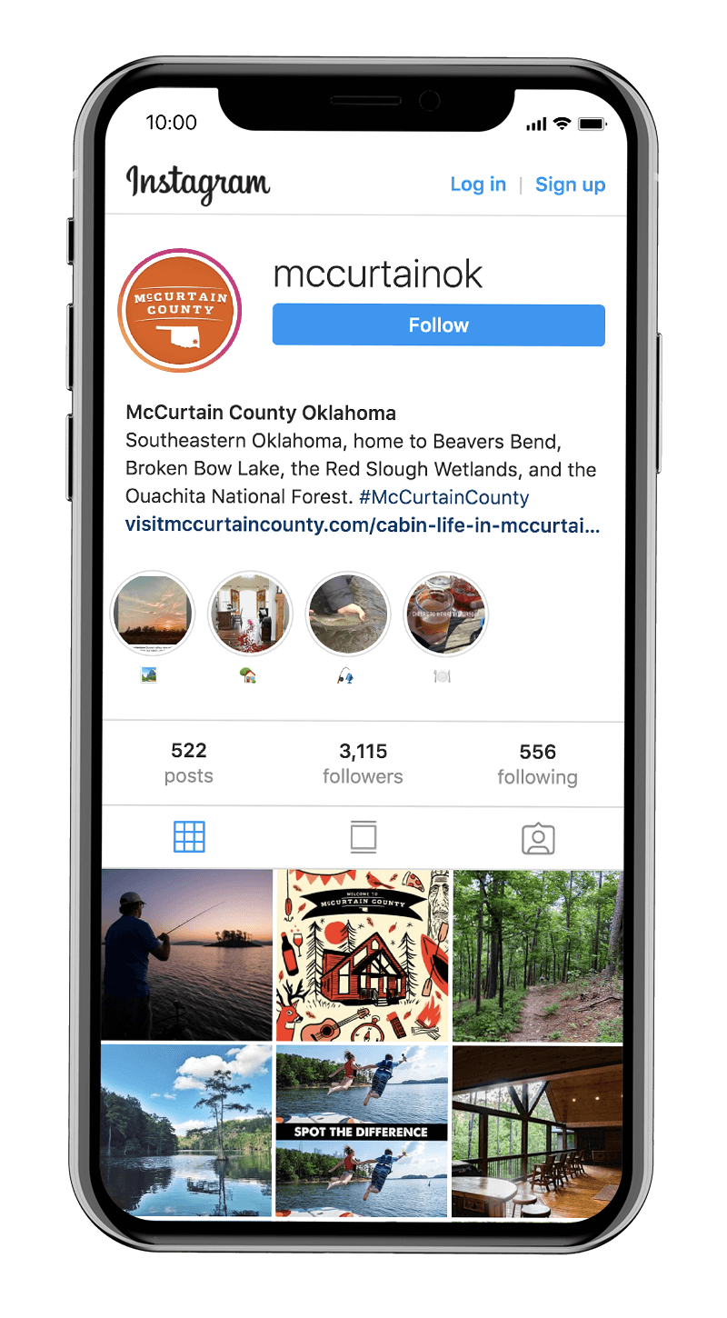 Visit McCurtain County's Instagram property