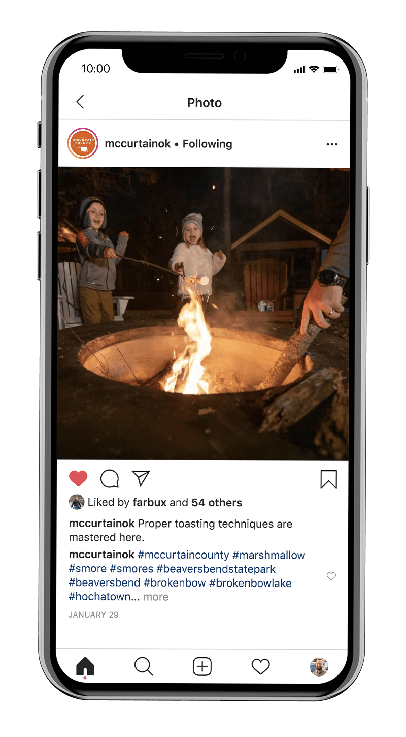 McCurtain County tourism marketing on Instagram