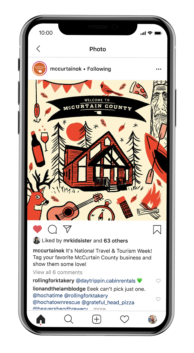 McCurtain County tourism marketing on social media
