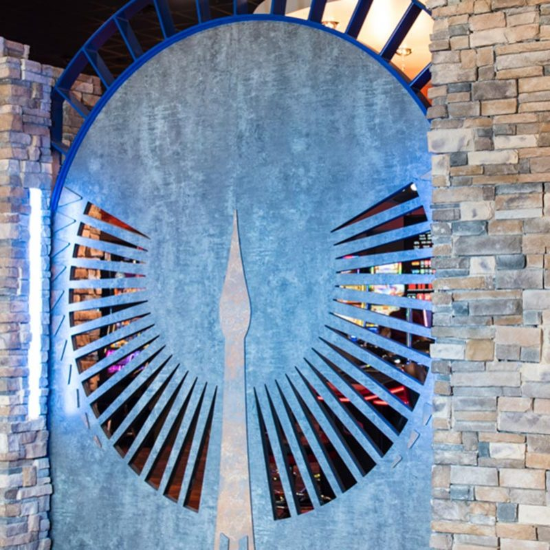 Tonkawa Hotel & Casino logo design incorporated into casino interior design