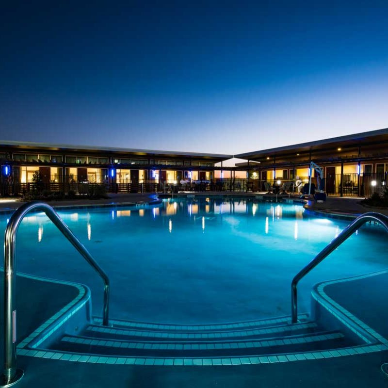 The pool at Tonkawa Hotel & Casino